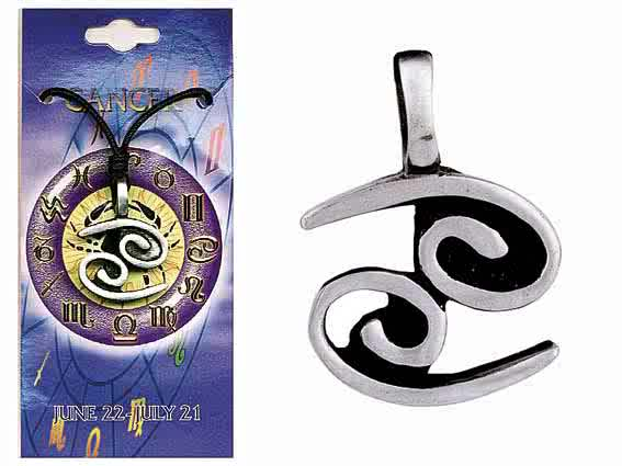 Astrological Pewter Pendant – CANCER